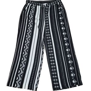 Jules & Leopold black & white wide leg pants XL